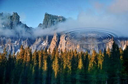 Mountain in a Lake